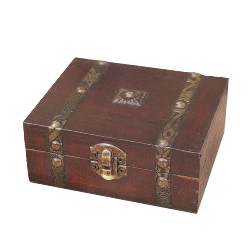 Retro Book Design Trinket Jewelry Storage Box Classic Vintage Wooden Treasure Box Jewelry Gift Box Case Orgnizer MJG7714