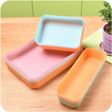 Kitchen Box 1PC Multifunctional Drawer Plastic Storage Thickened Without Cover Sorting Organizer X