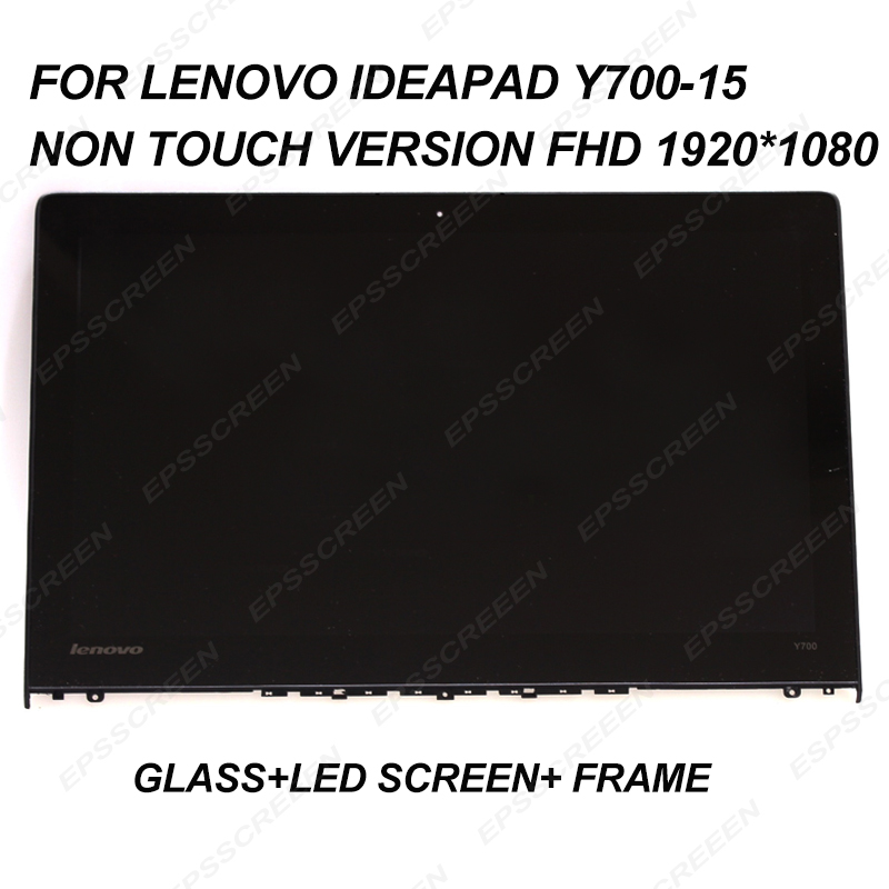For Lenovo IdeaPad Y700-15ISK 15.6 FHD 1920*1080 LED Panel Lcd Screen+Front Glass Assembly Display NON TOUCH