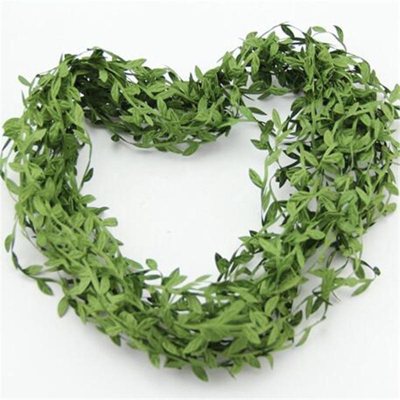 5M/lot 5 color artificial silk leaves flower vine home wedding decoration DIY wreath accessories party supplies flowers