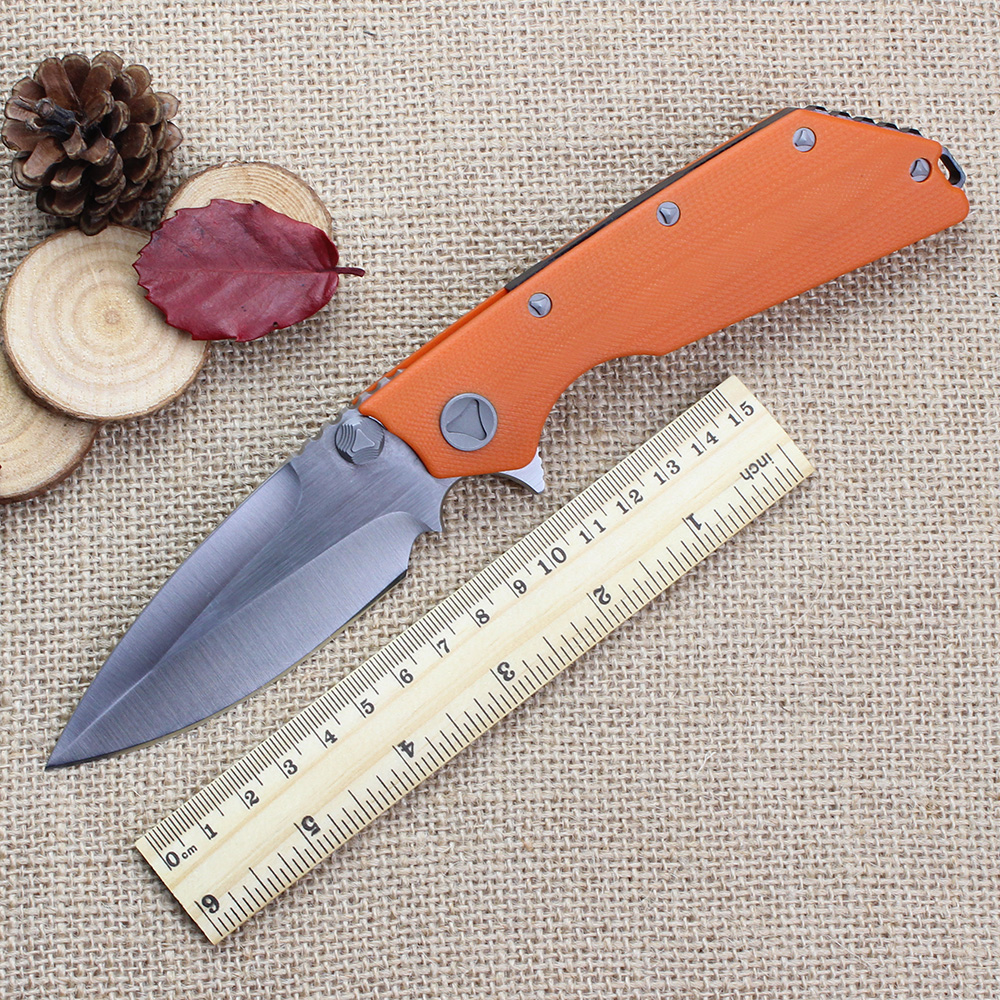 D2 Blade High end Folding font b Knife b font G10 Handle Combat font b Tactical