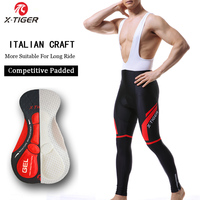 X Tiger Pro Cycling Bib Pants Keep Warm Thermal Bicycle Trousers Cycling Bib Long Pants Winter Racing Bike Tights