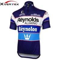 Retro riding shirt 2017 REYNOLDS Verano completa un ciclo Jersey de Secado rápido jersey de equipo de Etxeondo Z bicicleta camiseta usada por Pedro Delgado