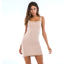 Summer Sexy Above Knee Women Dress Female Casual Sleeveless Bodycon Dresses Club Party Vestidos