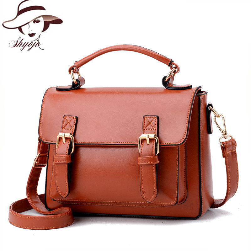 2017 New Vintage Hasp High Quality Women Messenger Bags Ladies Crossbody Bag Famous Brand Women Small Handbags Leather Book Tote designer bags famous brand high quality women bags 2016 new women leather envelope shoulder crossbody messenger bag clutch bags