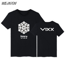 WEJNXIN VIXX CHAINED UP Kpop Short Sleeve T-shirts Cotton T Shirt For Men Women VIXX Fans Support TShirt Luxury Summer Tee Shirt(China)