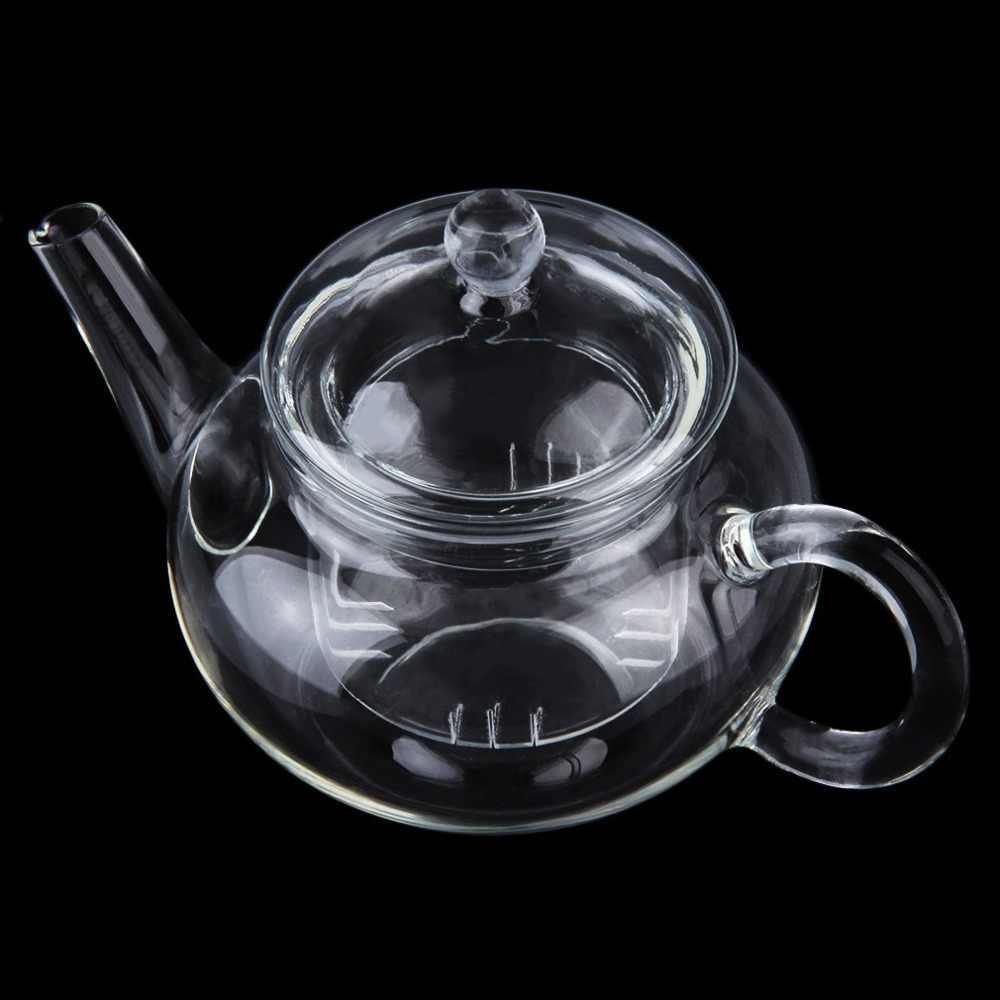 250 Ml Tahan Lama Transparan Teko Kaca Tahan Panas Ketel dengan Infuser Kopi Bunga Daun Teh Herbal Pot Multi Penggunaan