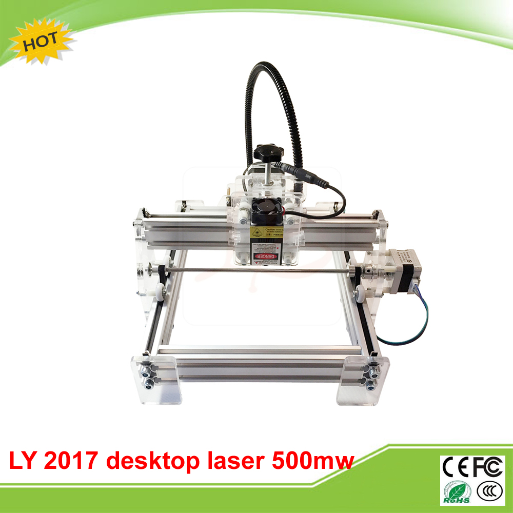 Disassembled LY 500mw Blue Violet Laser Engraving Machine Mini DIY Laser Engraver IC Marking Printer Carving Size 20*17CM disassembled pack mini cnc 1610 2500mw laser cnc machine pcb wood carving machine diy mini cnc router