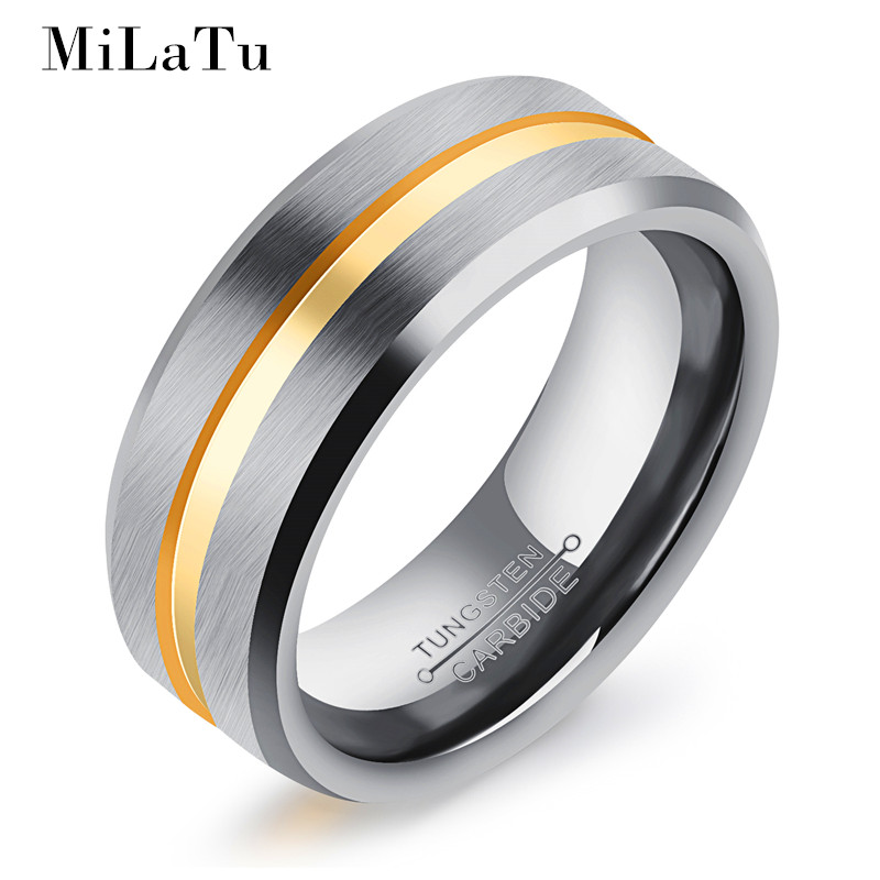 milatu 3 styles cool mens wedding bands blackgold color tungsten carbide engagement ring - Cool Mens Wedding Rings