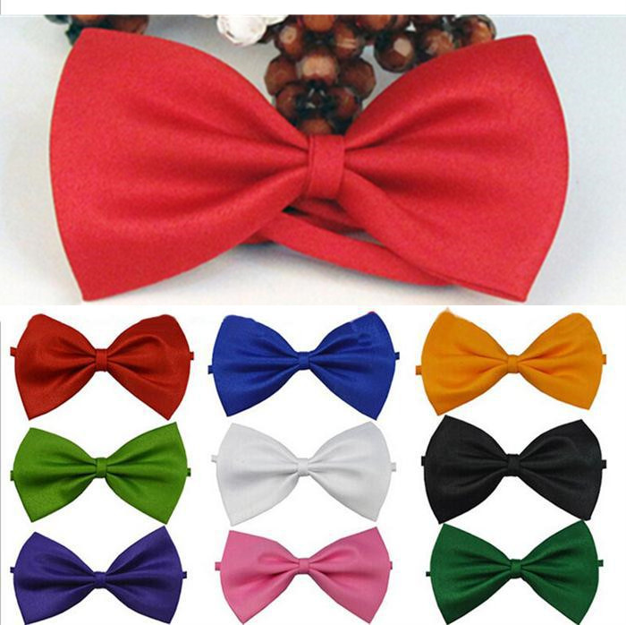1PC 12CM*6.5CM Bow Tie Male Solid Color Marriage Bow Ties For Men Candy Color Butterfly Cravat Bowtie Butterflies