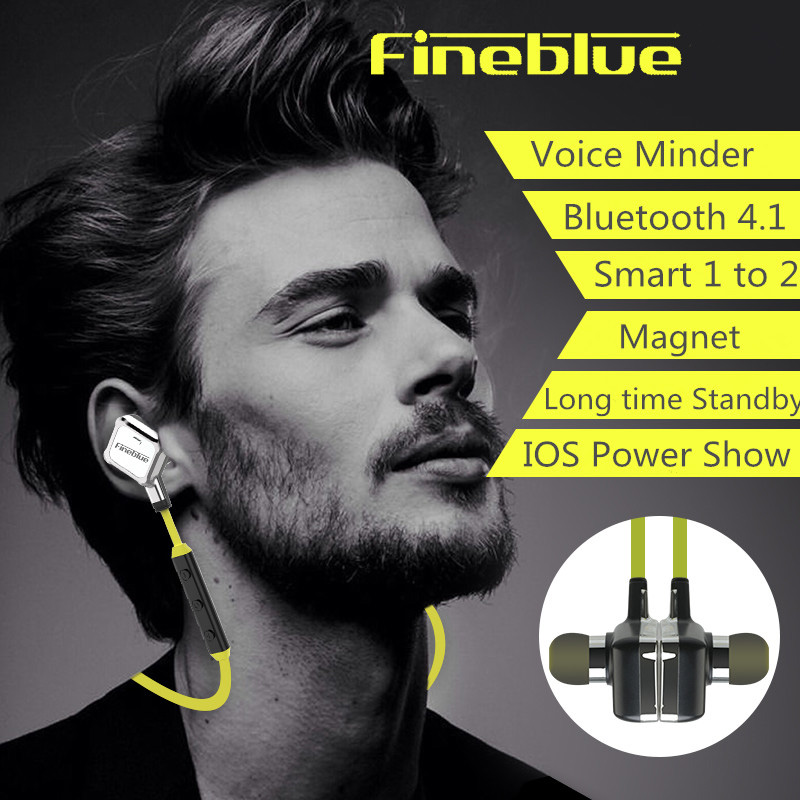 The New FineBlue FA-90 Sports Neck Hanging High Quality Magnetic Stereo Bluetooth Headset