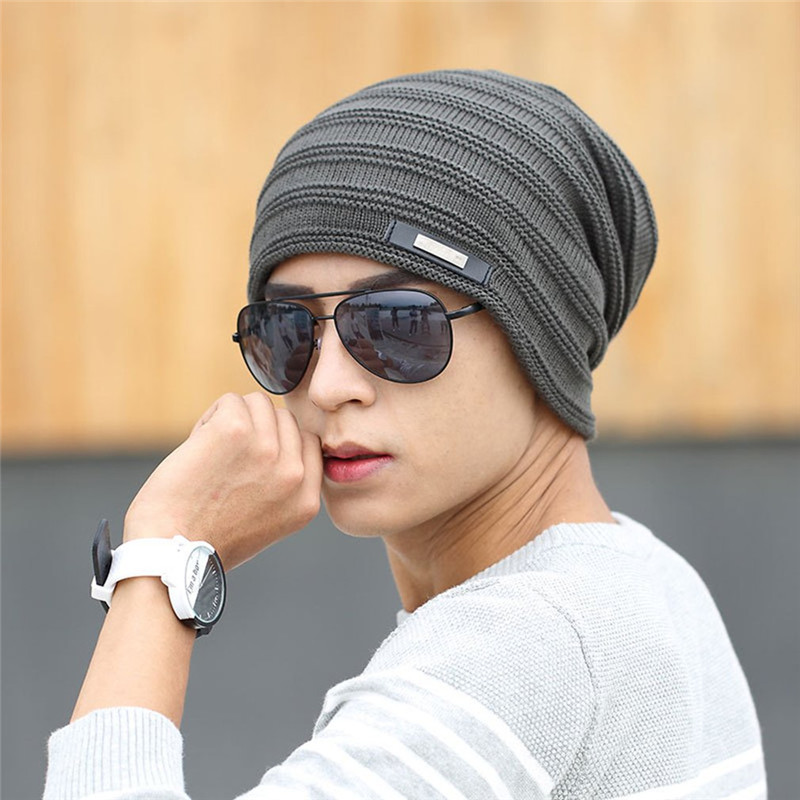2017 New Winter Beanie Hats Unisex Cap Men Women Stocking Hat Beanies Stripe Knitted Hiphop Wool Warm Thickened Cap unisex illest letter hat gorros bonnets winter cap skulies beanie female hiphop knitted hat toucas outdoor wool men pom ball