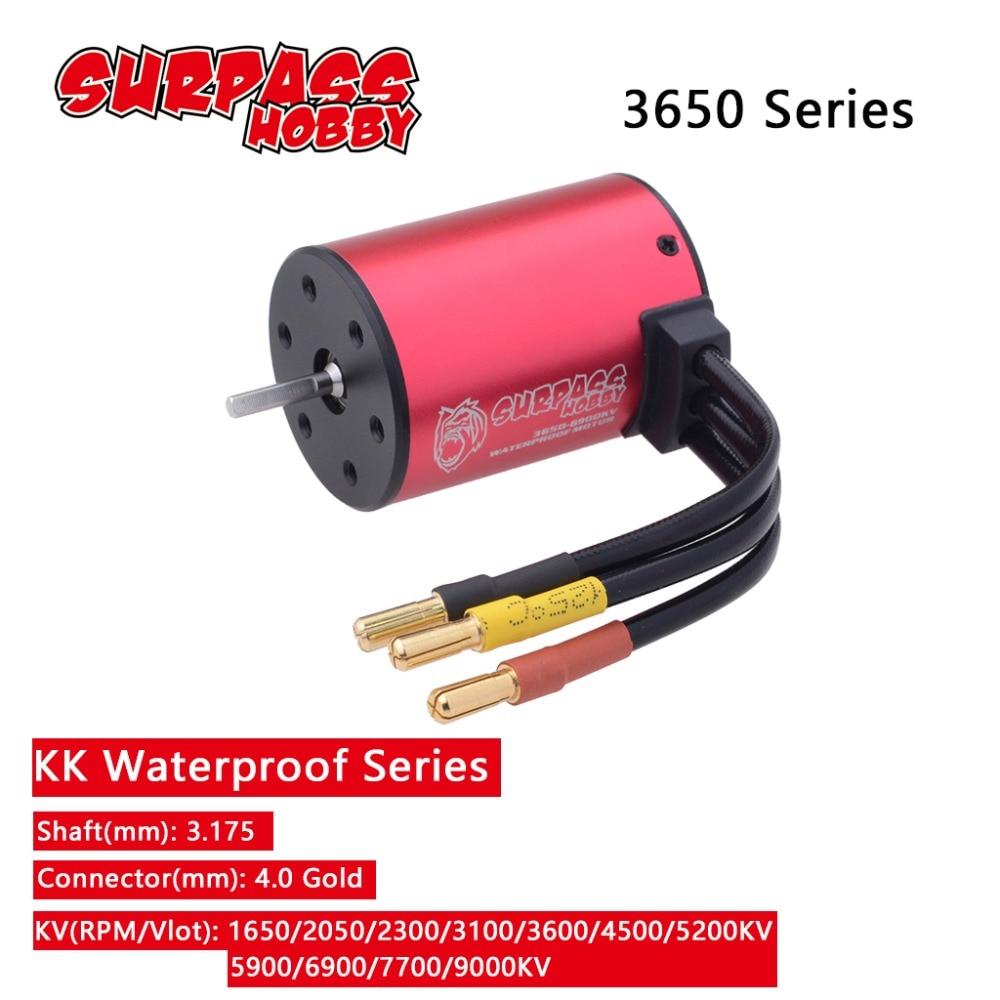 Waterproof 3650 3.175mm Brushless Motor 2050KV 2300KV 3100KV 3600KV 3900KV 4300KV 4500KV 5200KV 5900KV 6900KV 7700KV 9000KV