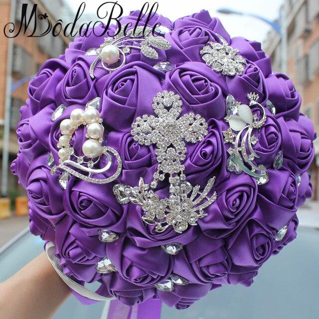 Modabelle Luxury Purple Wedding Bouquet For Brides Artificial ...