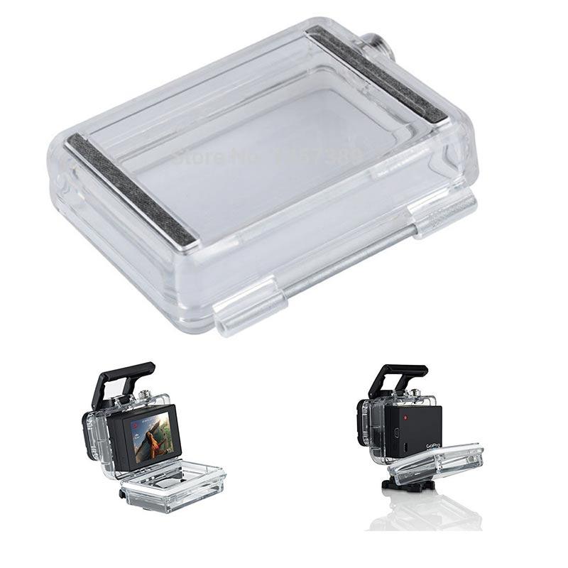 Tekcam para Gopro accesorios pantalla LCD batería Bacpac estuche impermeable Backdoor cubierta para GoPro Hero 3 + 4 vivienda