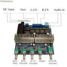 Free ship Assembled HIFI digital power amplifier TPA3116D2 2 1 high power board 12 24V subwoofer