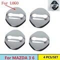 4 UNIDS Decoración Cerradura de la Puerta Cubierta de Protección Caso Para CX 5 CX-5 de Mazda 3 Mazda 6 Mazda 2012 2013 2014 2015 Coche Styling