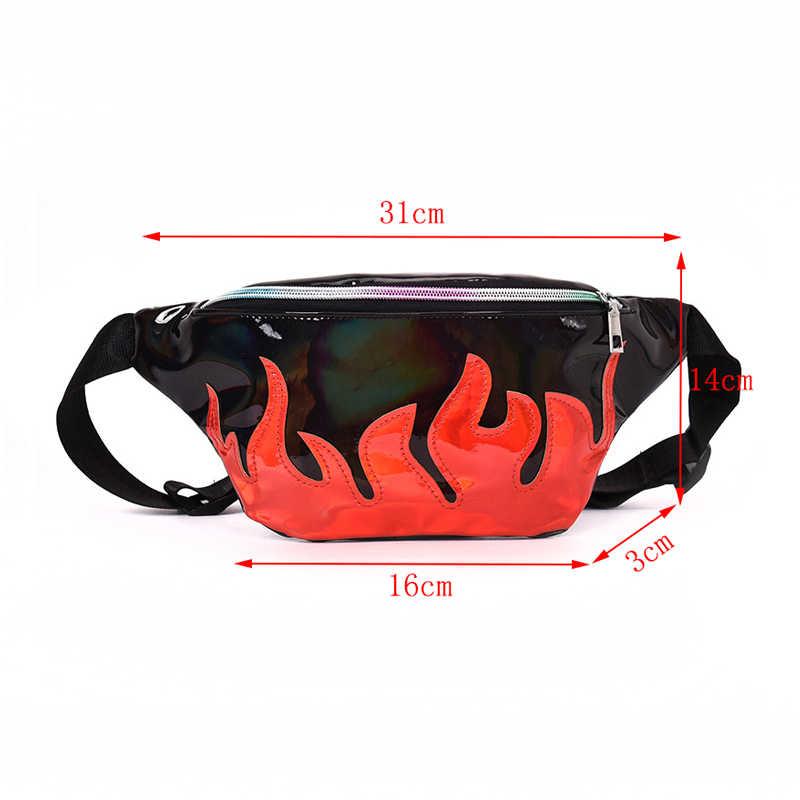 CCRXRQ Красный Пламя поясные сумки 2019 модные женские ремни сумки удобная кожаная поясная сумка женская сумка-мессенджер хип хоп Бум Сумка Bananka