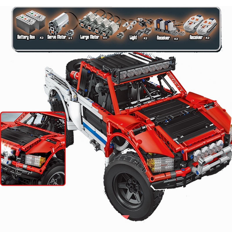 Lepin Technic 23013 The SUV Car Pickup Truck 2314Pcs Building Blocks Toys For Children Compatible Legoing Technics Cars lepin technic 20055 the rescue vehicle set 1180pcs building blocks toys for children bricks compatible legoing technics 42068