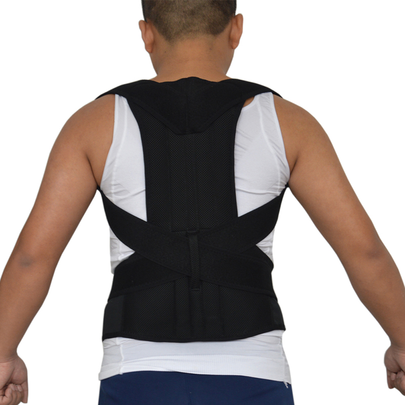 Back Shoulder Support Posture Correction Belt for Men Women Students Magnetic Corset Back Posture Corrector Brace AFT-B003 back posture correction belt for children beige