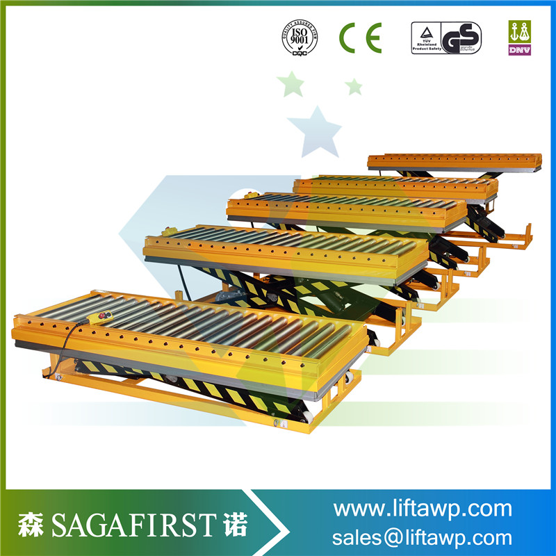 1m 3m 1ton Stationary Cargo Lift Platform Hydraulic Scissor Lifter