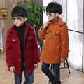 British Style 2017 Fall Winter Big Boys Casual Long Tweed Coat Children's Thick Wool Jacket Outerwear Kids Woolen Overcoat A100