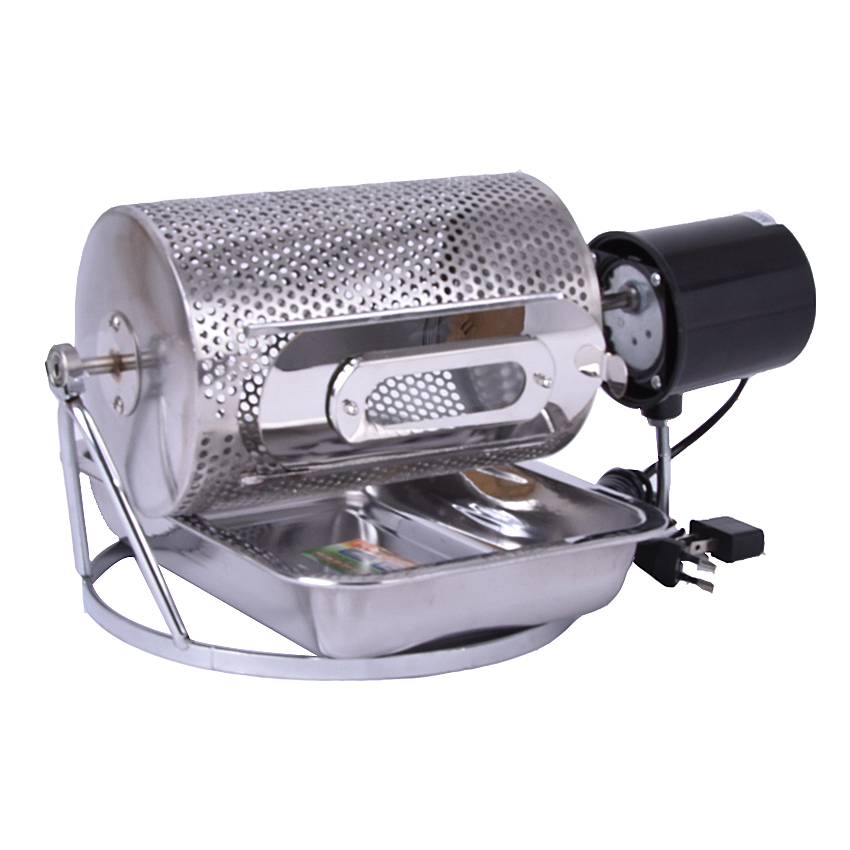 1pc Electric Stainless Steel Glass Window Coffee Roaster Machine tool&BBQ for home use cukyi household electric multi function cooker 220v stainless steel colorful stew cook steam machine 5 in 1