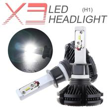 2pcs H1 X3 50W 6000LM 6500K LED Mini Auto Car Headlight Kit Automobile Fog Lamp Hi or Lo Light Bulbs for Cars Vehicles