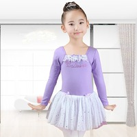 2017 New Girls Children Kids Ballet Dance Top 6Colors Spandex Gymnastics Dance Leotard Competition Kids Performance