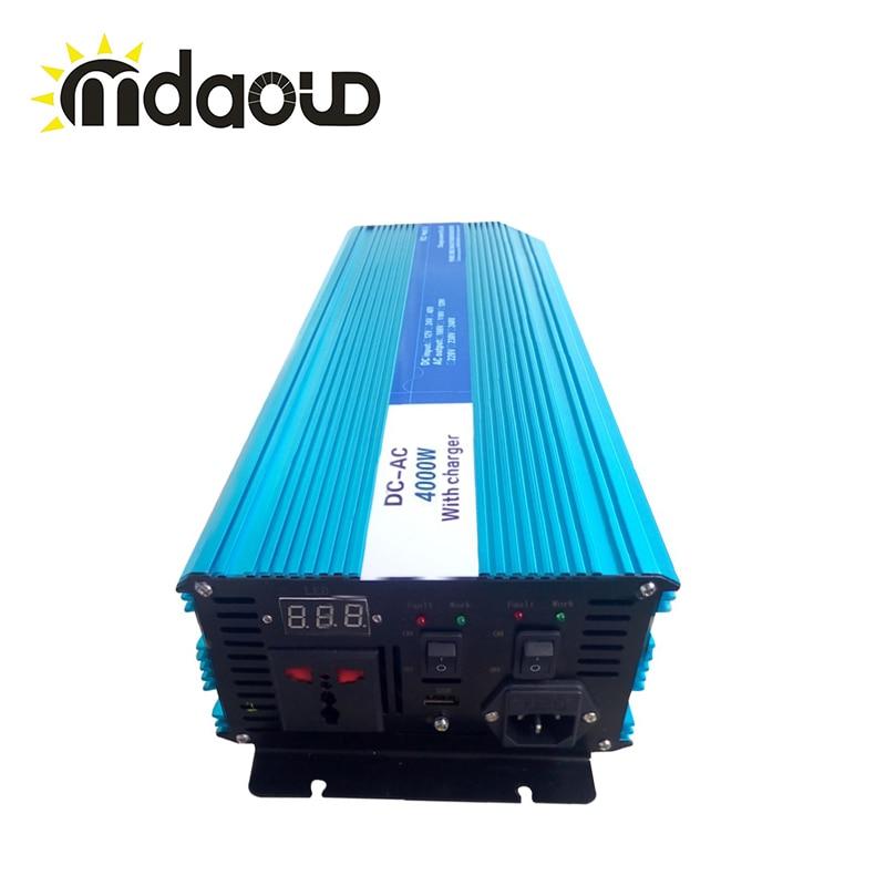 4000 Вт <font><b>UPS</b></font> 12 В/24 В/48 В до 110 В/230 В Чистая синусоида инвертор преобразователь с зарядное устройство