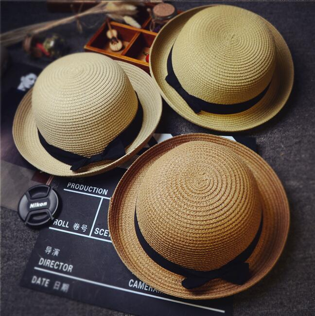 f563f7659d18e  Dexing  summer women Fashion Dome Straw hats for women sun Outdoor travel  fold Beach hat girls bow knot Panama hat-in Sun Hats from Apparel  Accessories on ...