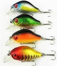 HENGJIA 5.5cm 8g Hard Plastic Crank Baits 3D Fish Eye Minnow Fishing Lures with Treble Hooks Bass Fishing Tackle CB010