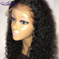 Curly Lace Front Human Hair Wigs For Women 13X4 Brazilian Non-Remy Human Hair Pre Plucked Lace Wig With Baby Hair Dream Beauty