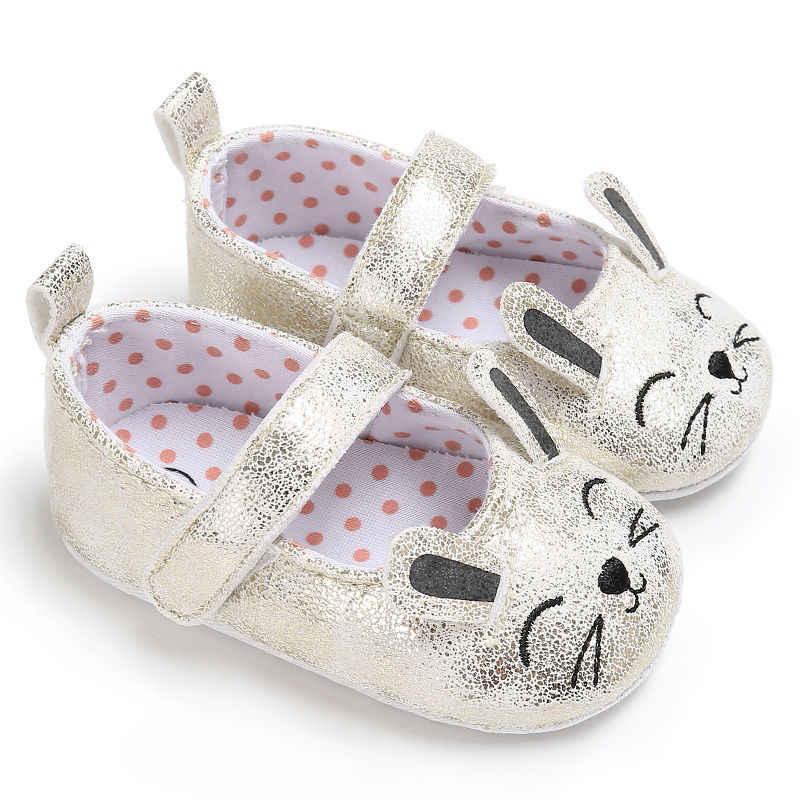 2018ใหม่0-18เมตรทารกแรกเกิดเด็กสาวโบว์ลื่นรองเท้าเปลซอฟท์แต่เพียงผู้เดียวรองเท้าผ้าใบP Rewalker
