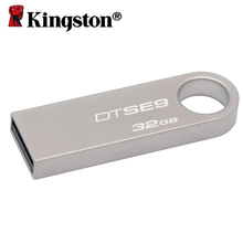 Kingston usb 2.0 Micro flash drive 32gb usb pendrive Metal Silver Ring Pen Drives Memoria Stick U Disk