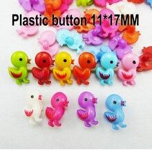 100 шт Любовь утка Кнопка Смешанные Окрашенные Пластиковые кнопки пальто сапоги швейная одежда аксессуар одежды P-226