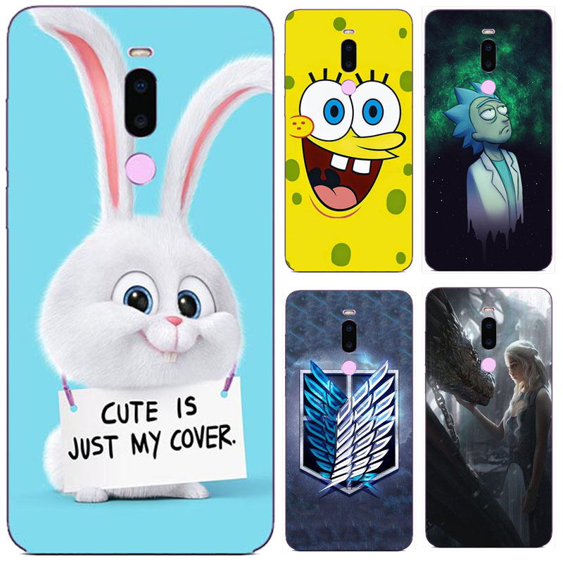 For Meizu Note 8 Note8 Case, Silicon Cartoon Painting Soft TPU Back Cover For Meizu M8