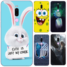 For meizu note 8 Note8 Case, Silicon Cartoon Painting Soft T