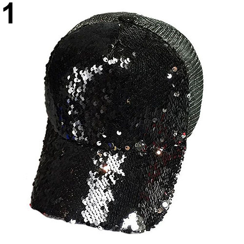 Men Women Sequin Peaked Cap Fashion Shining  Snapback Hip Hop Flat Hat skullies beanies mink mink wool hat hat lady warm winter knight peaked cap cap peaked cap