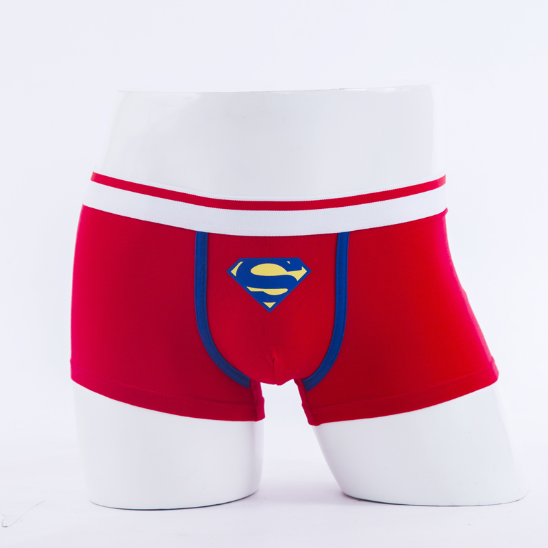 Superman Combed Cotton Breathable Low-waist Men Underwear Marval Cartoon Men Cueca Boxer Hombre Student Sexy Movie Men Underwear #2