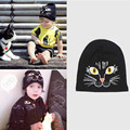 New children's hat mini cat black cat embroidery baby hats boys girls casual cap for kids 0-7 years clothing accessories