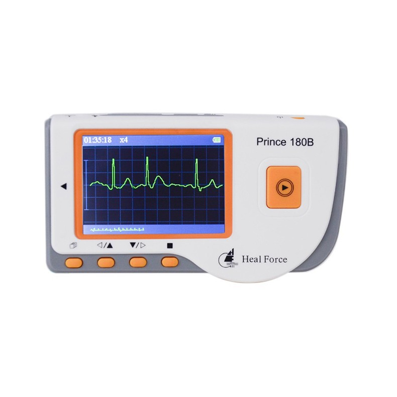 HealForce Prince180B ECG,Handheld Easy EKG Monitor, Portable Health monitor, Measurement of one channel ECG, FDA,CE approved health care ce easy handheld ecg ekg portable mini pc 80b lcd heart ekg monitor continuous measuring function usb