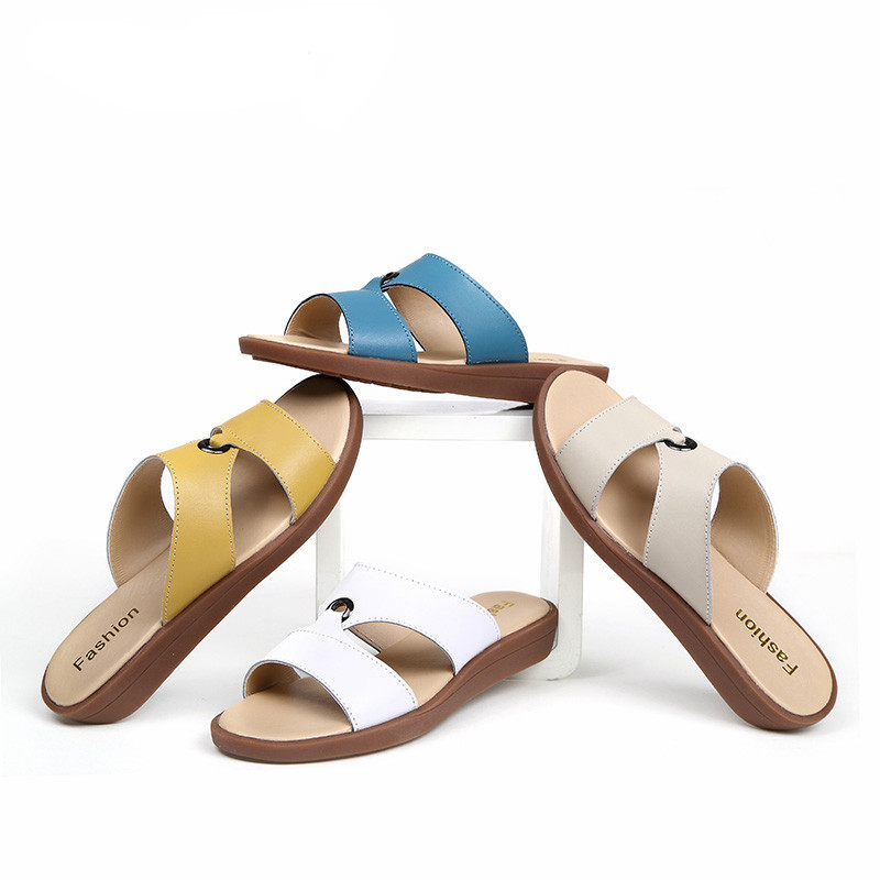 2017-Casual-Women-s-Sandals-Real-Cow-Leather-Flats-Shoes-Women-Slip-On-Summer-Female-Slides