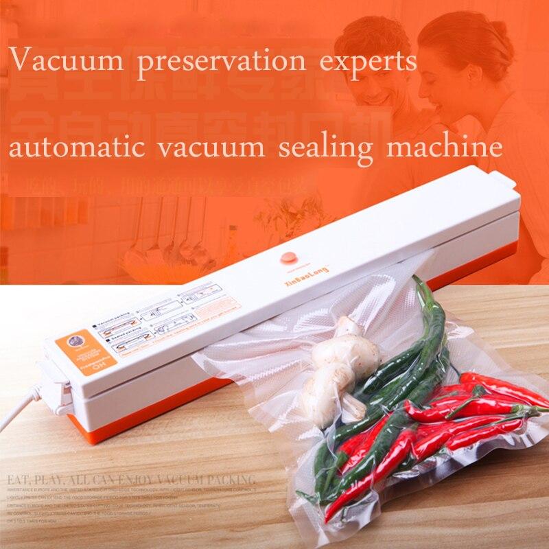 ФОТО 110V/220V EU/US PLUG Household Automatic Electric Vacuum Food Sealing Machine Film Sealer Vacuum Packer Vacuum Packaging Machine
