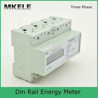 High Quality Modbus RTU Din Rail MK LEM021GC Portable Digital LCD Three Phase Energy Electricity Meter China