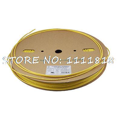 3.0mm Dia. Tube Gaines Thermorétractables Shrink Tubing Jaune 200 M