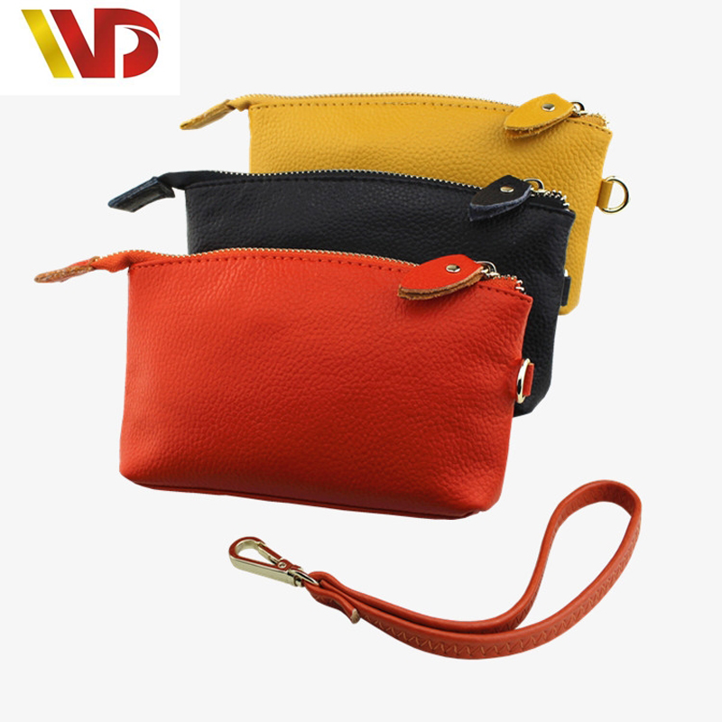 2016 Brand coin purse Mini wallets hasp small 100% Real leather wallet men purses male clutch women Cell phone pocket