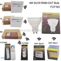 MiLight GU10 4W RGB CCT LED Bulb Spotlight FUT103 110V 220V Full Color Remote Control Smart