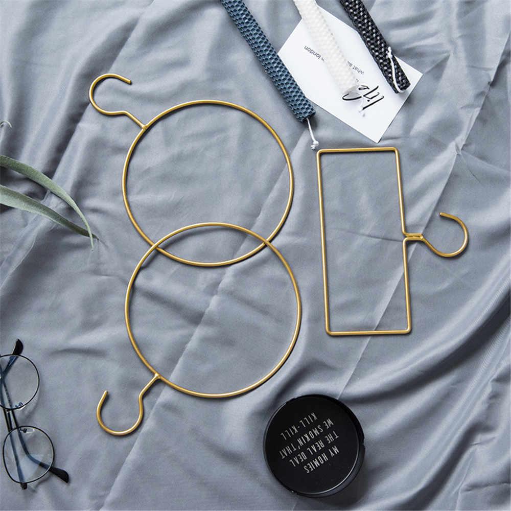 Forma geometria de Metal Chic Ouro Minimalista Escandinavo Nórdico Mesa Cesta De Armazenamento Cesta De Armazenamento de Artigos Diversos Organizer Home Decor