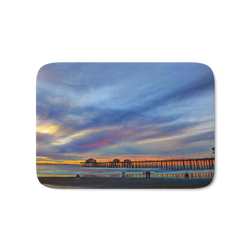 Sundown Colors At Huntington Beach Bath Mat 21 x 34 Rugs Flannel Door Mats Waterproof Kitchen Bedroom Carpet